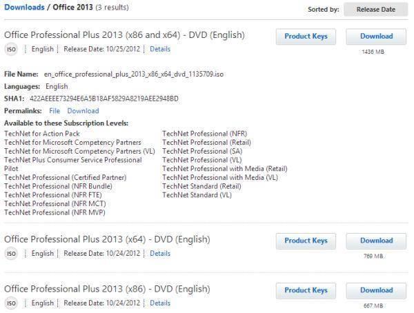 Descargar Microsoft Office 2013, Visio 2013, Project 2013 RTM Gratis