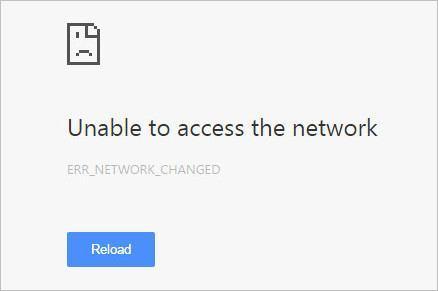 "Error ""Err_Network_Changed"" en Chrome [Solucionado]"